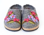 Haflinger Meadow Purple Felt Clogs