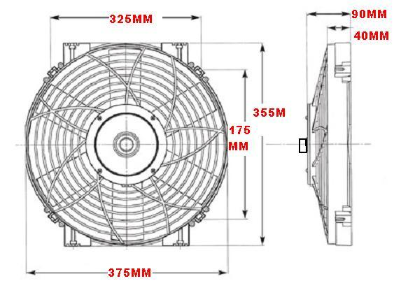dc0065 thermo fan kit 24v 14 u0026quot  thermatic fan kit is