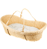 Nature Baby Moses Basket includes organic wool mattress