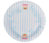 Paper Large Plate, Happy Birthday Blue