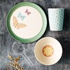 Love Mae 'Pretty Butterflies' BAMBOO dinnerware set