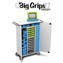 ISIS Big Grips iPad Charge & Store - 15 Bay Trolley