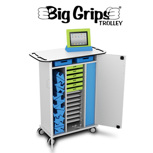 ISIS Big Grips iPad Charge & Sync - 15 Bay Trolley