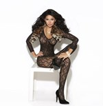 Black Chain Lace Bodystocking