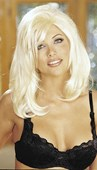 Platinum Blonde Layered Silky Wig