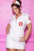 Plus Size Vinyl Nurse Costume