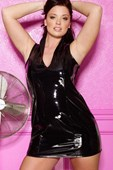 Plus Size Vinyl Dress with Back Lacing