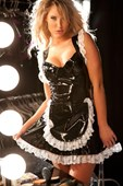 Plus Size Vinyl French Maid Costume