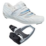Shimano SH-WR41 / Shimano PD-R540 Ladies Road Shoe/Pedal Combo