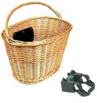Front Wicker Basket w/ Quick Release