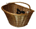 Golden Front Wicker Basket w/ Quick Release