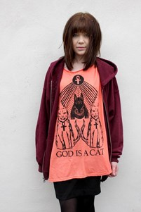 God is a Cat Oversize T-Shirt