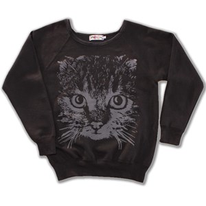 Cat Wide Neck  Sweat