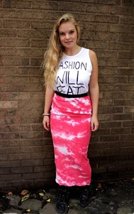 Red Tie Dye Skirt