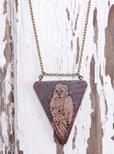 Handmade Totem Necklace - Owl