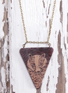 Handmade Totem Necklace - Badger