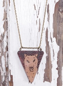 Handmade Totem Necklace - Wolf