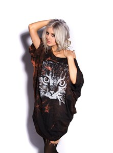 Cat Oversize T-Shirt Dress