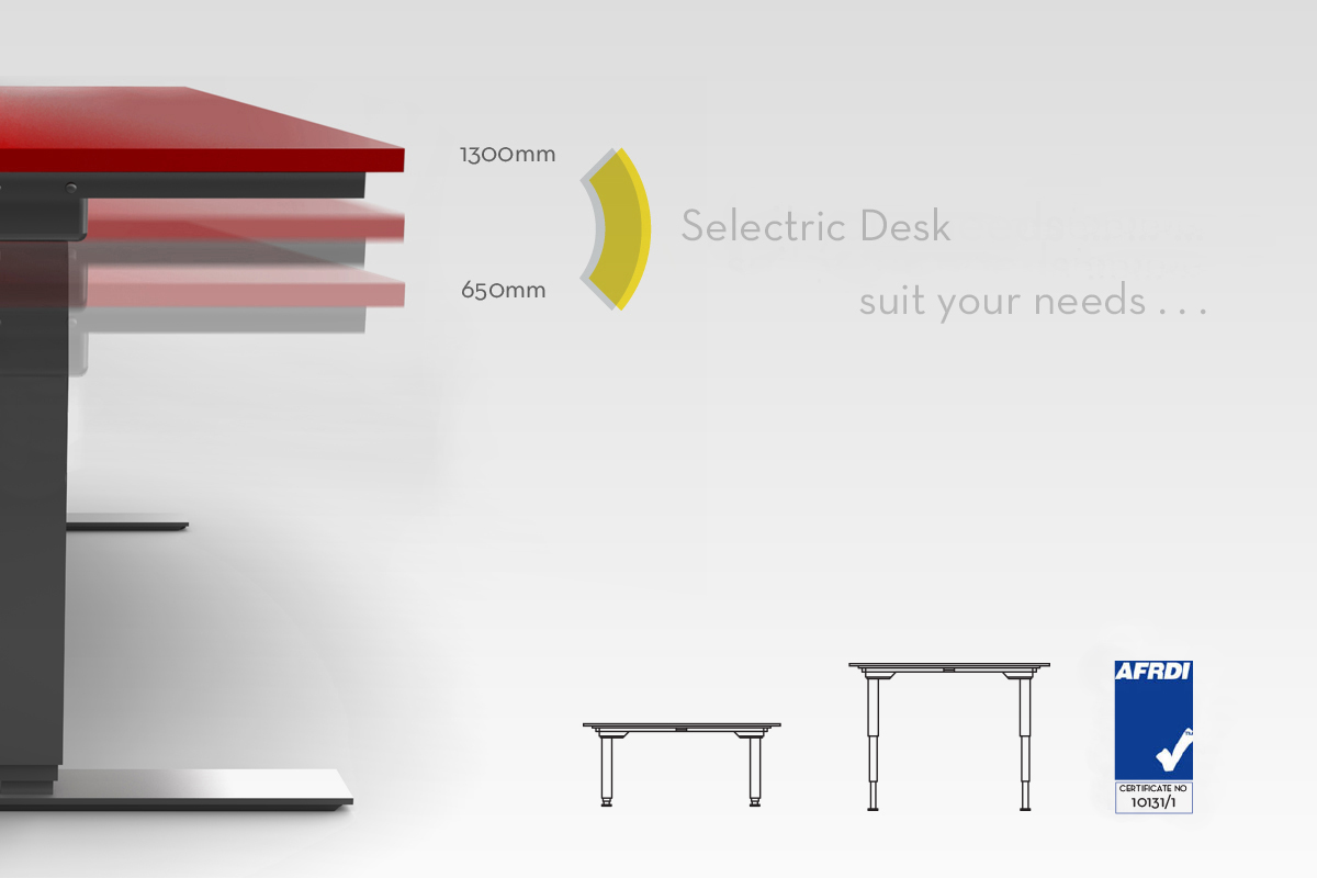 Selectric Height Adjustable sit/stand desk