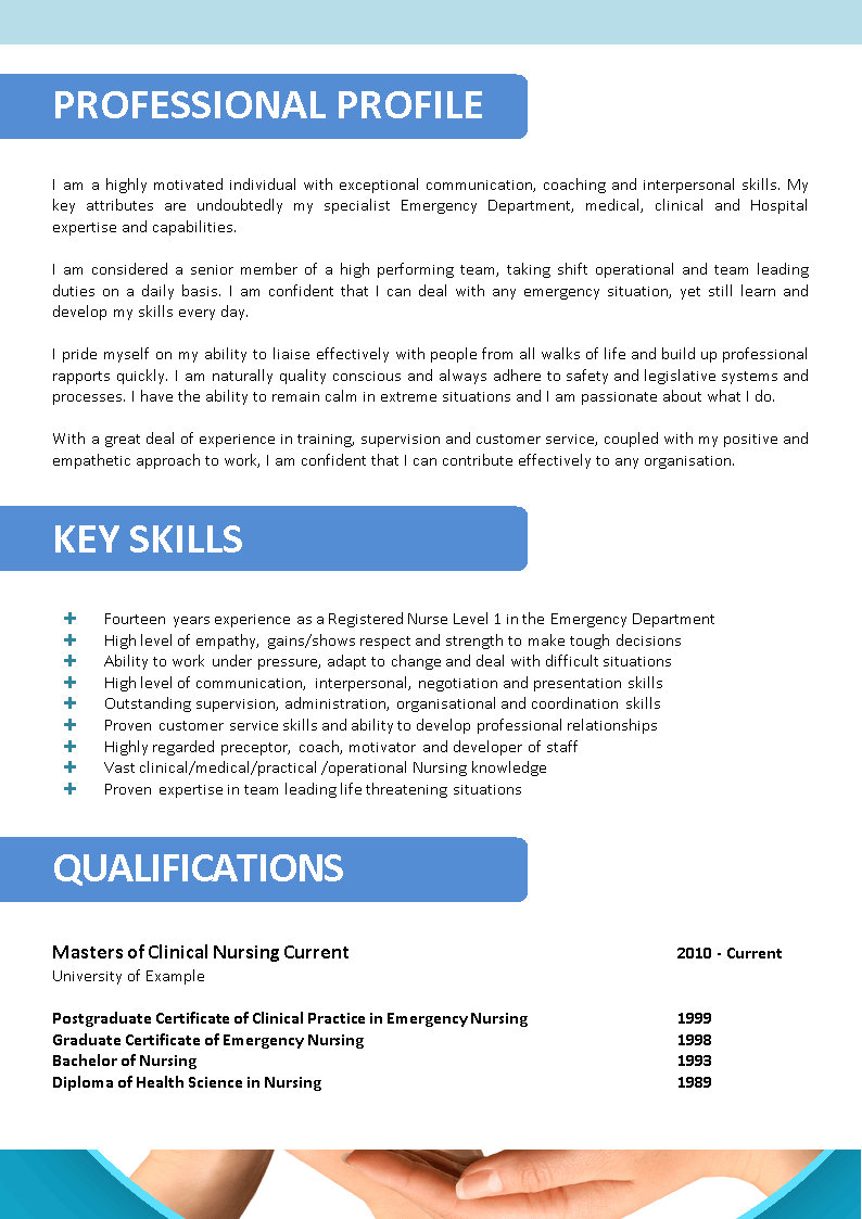 Nursing Resume Templates Australia Experienced Registered Nurse