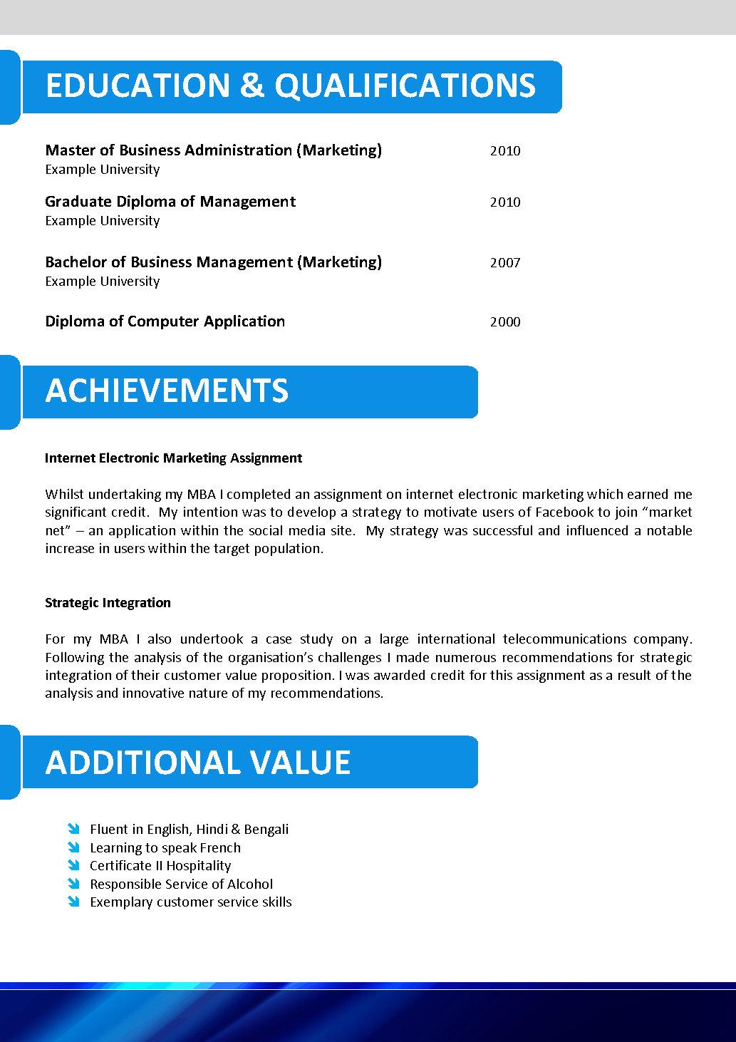 professional resume template .