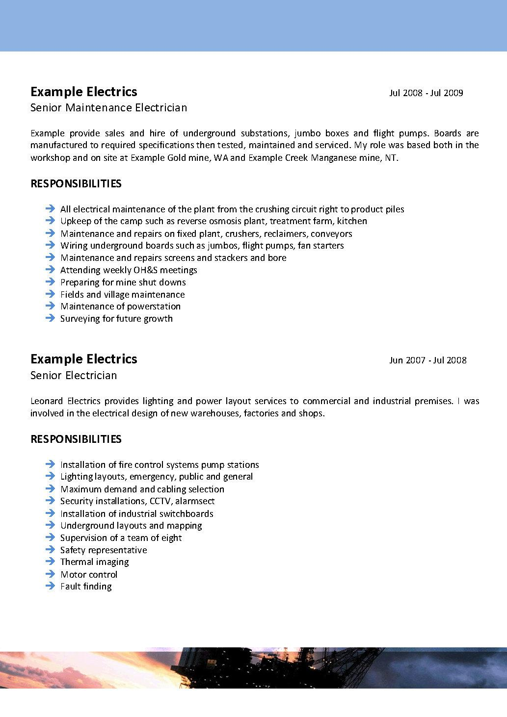resume offshore electrician electrical engineer resume sample we can help professional resume writing resume templates