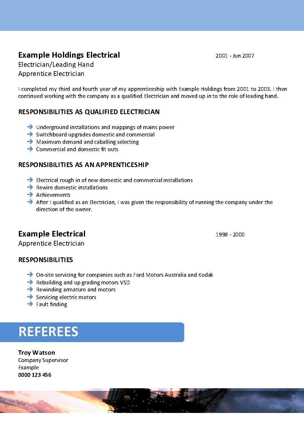 Hvac Apprentice Cover Letter Sample Resume Resume For Electrician  Apprentice Qualification Summary