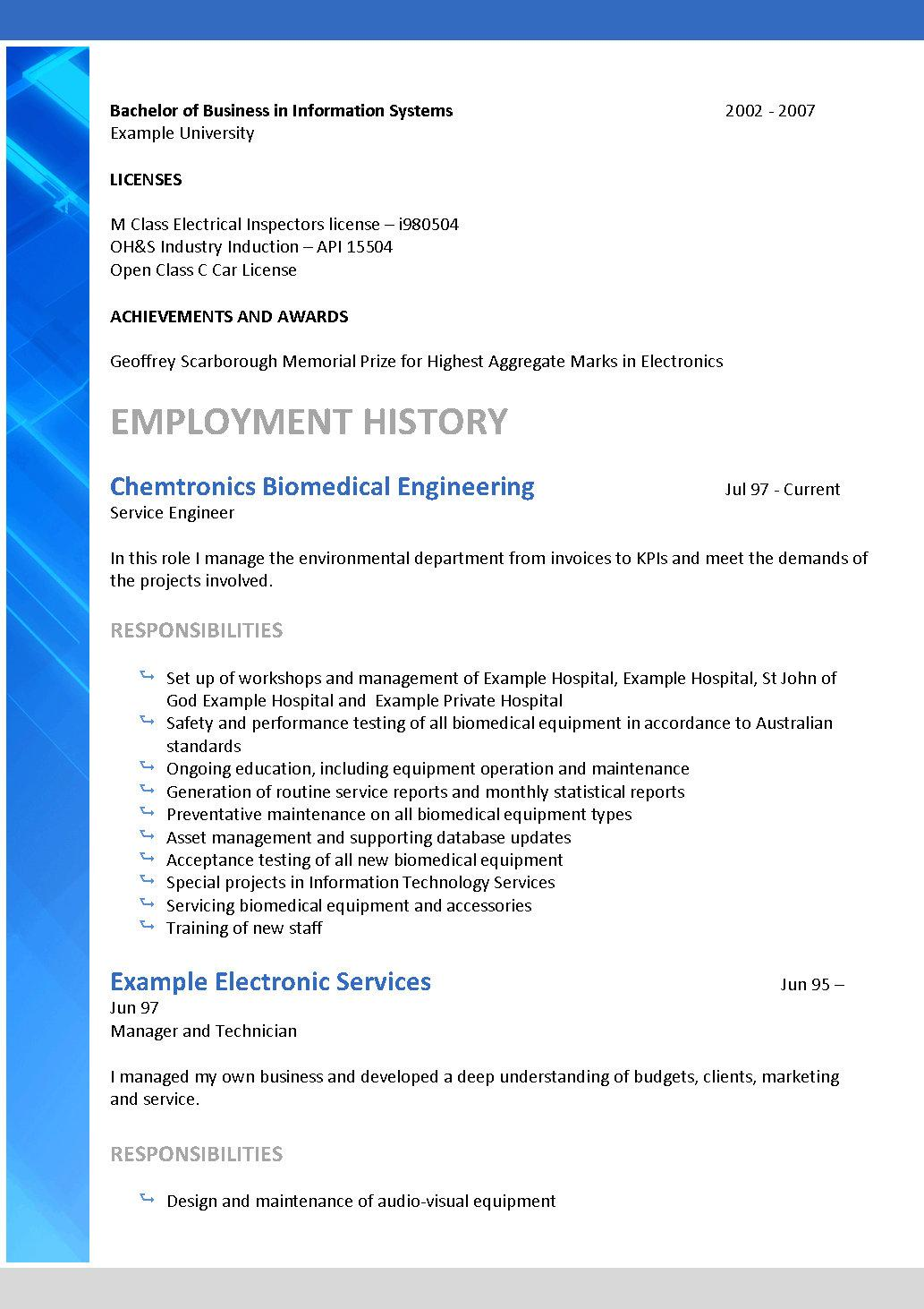 resume template resume templates infomation technology resume