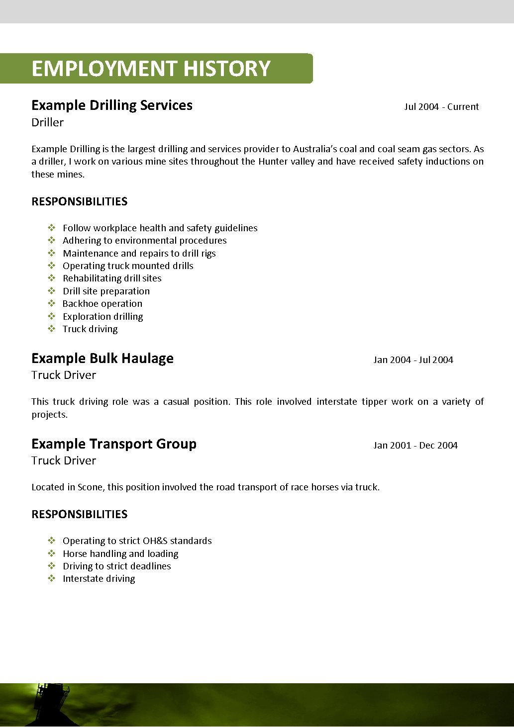 fascinating mining operator resume samples for your shuttle driver