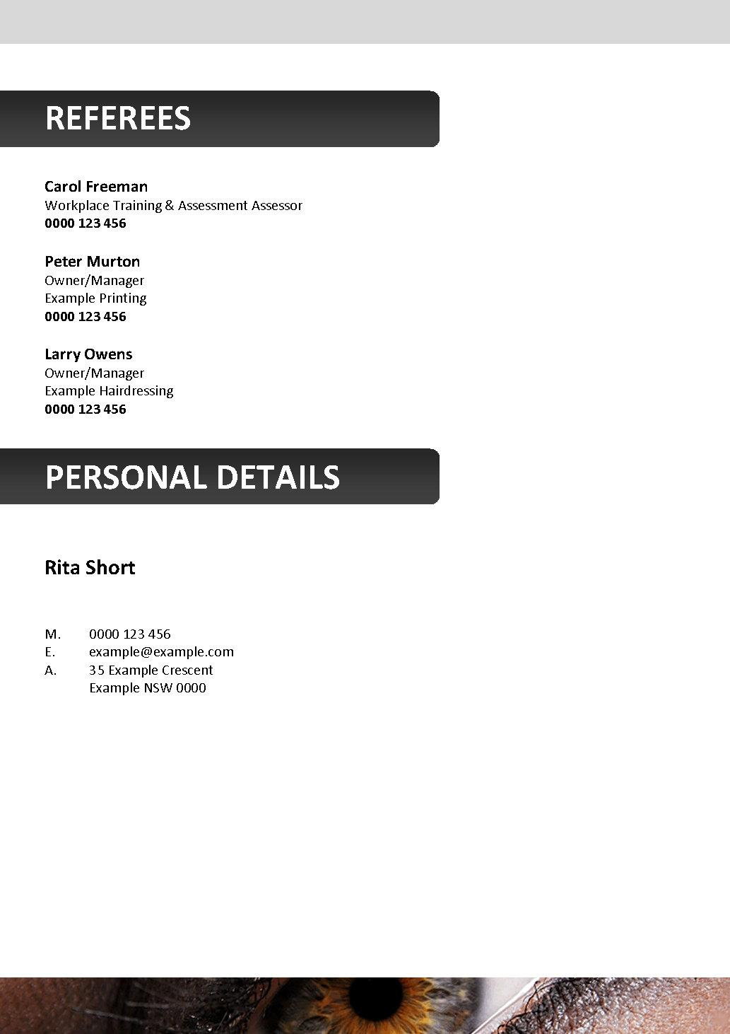 Beautician resume format