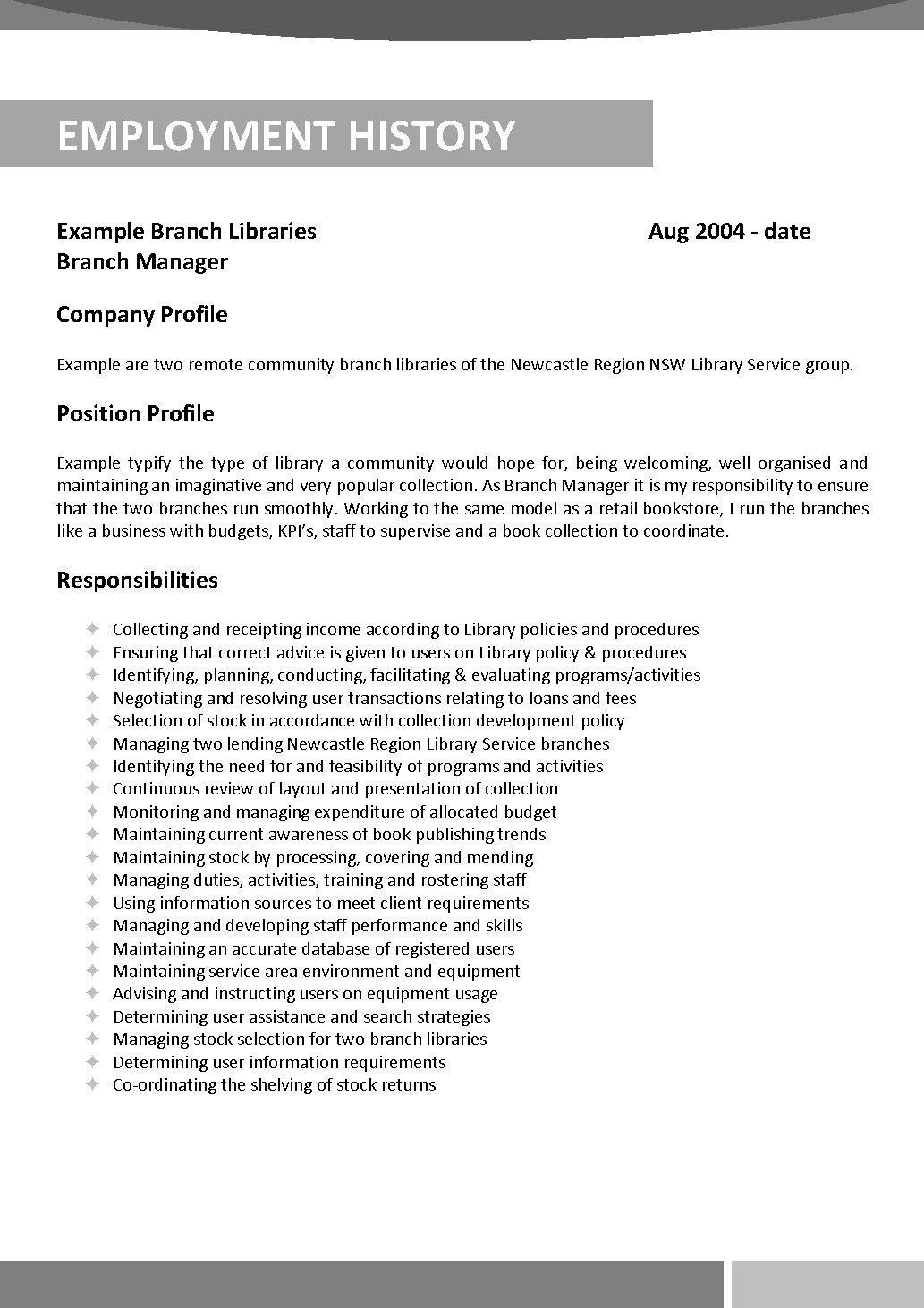 library technician sample resume tenancy agreement form free money