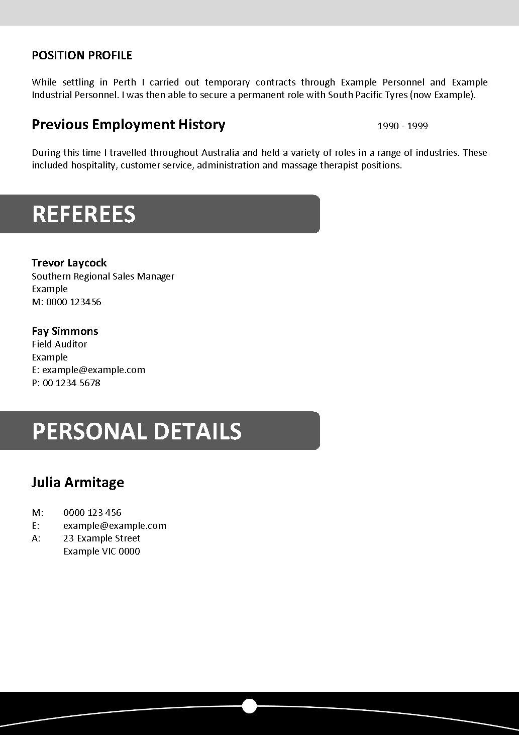 really good resume examples