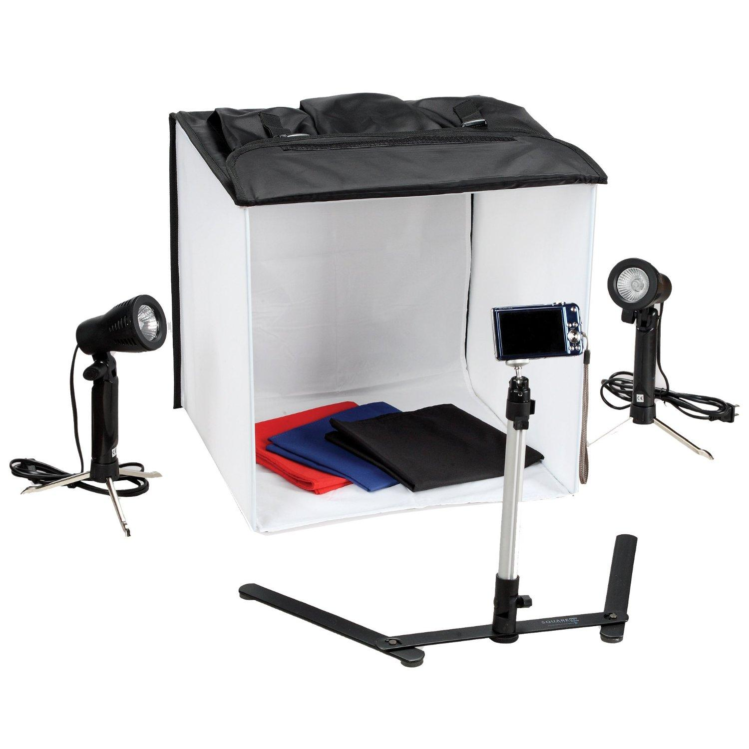 photo studio in a box portable web light kit 859456000000. Black Bedroom Furniture Sets. Home Design Ideas