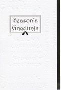 White Classic embossed Season's Greeting