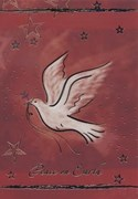 Dove of Peace on Red