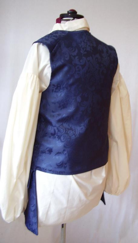 Century Vest for Elegant Men to 3XL Custom made costumes for Halloween