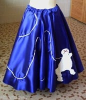 Rock and Roll Party Poodle Skirt in Royal Blue to XL