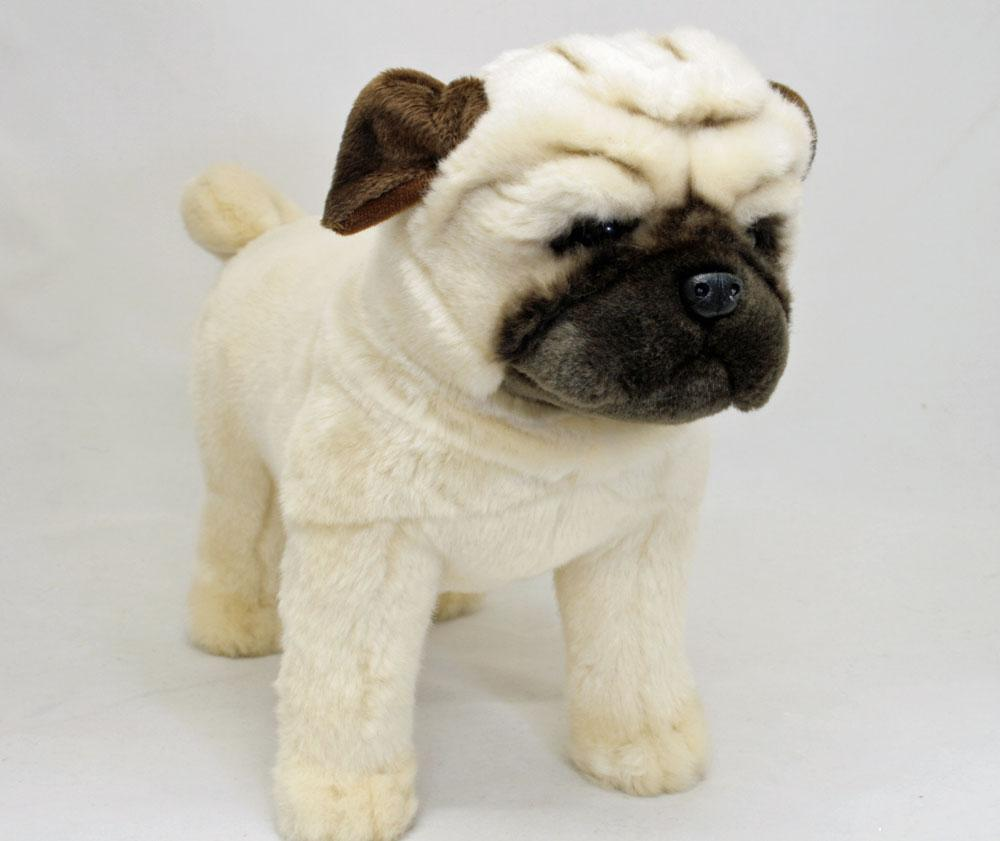 Stuffed Pug Dog Toy