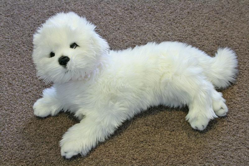 Bichon Frise lying plush toy dog - Princess - Bocchetta Plush toys