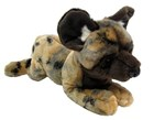 African Wild Dog lying soft toy by Korimco