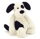 Jellycat Bashful Black and Cream Puppy 24cm