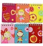 Girl's Mini Note Books (6 per pack)