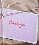 Thank-you Note cards by Sambellina - Pink (pack of 12)