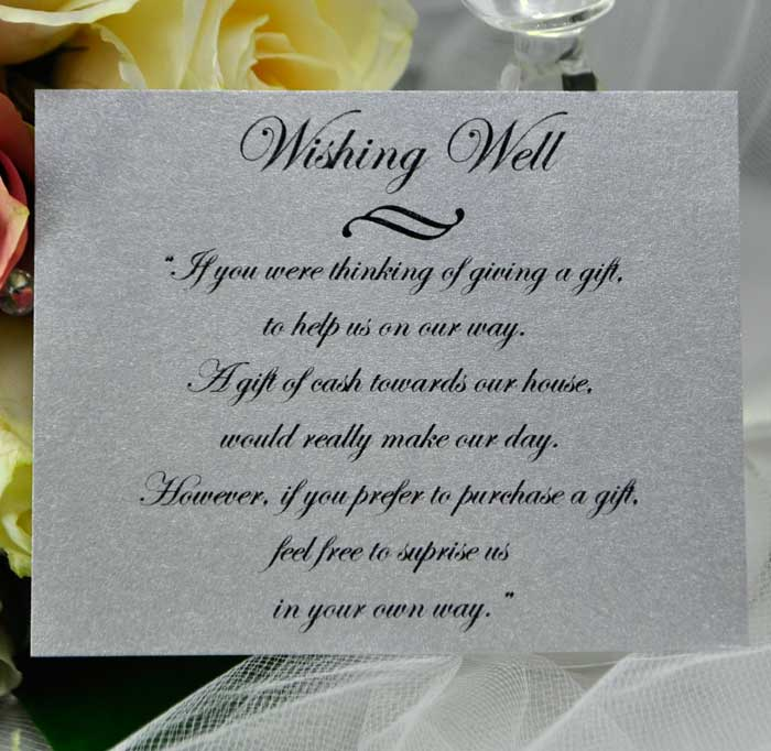 email to a friend wishing well silver silver wedding wishing well card ...