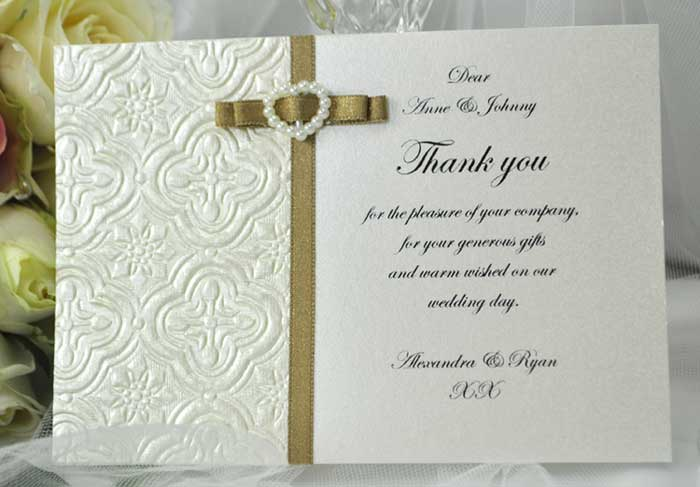 Wedding Thank You Cards | New Calendar Template Site