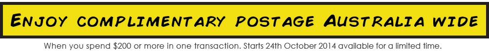 Enjoy complimentary postage Australia wide for a limited time