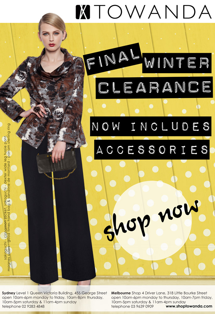 Final Winter 2013 Clearance - now includes accessories