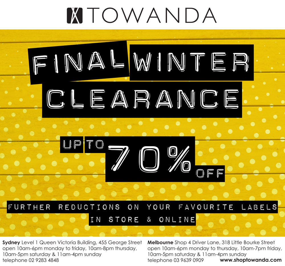 Final Winter 2013 Clearance