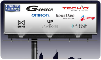 Brands available G-Sensor,  Omron, Yamax,Tech4o, BeActive, Misfit, Fitbit, UP by Jawbone