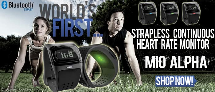 Mio Alpha- worlds first strapless continuous heart rate